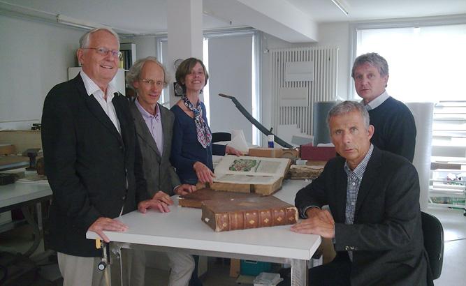Vorstandsmitglieder von Pro Helvetica in Weimar